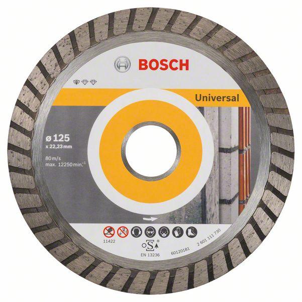Диск алмазный отрезной Bosch Stnd UnivTurbo 10шт 125/22,23 2608603250
