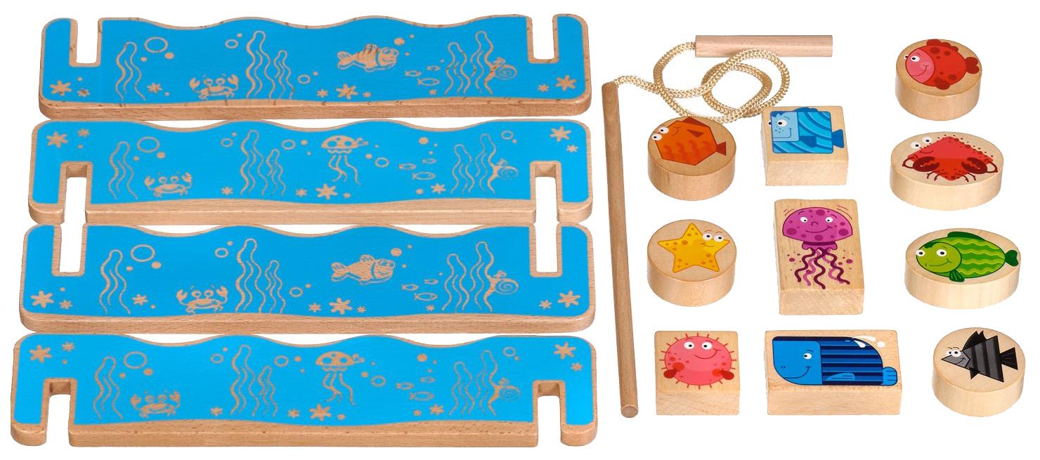 Купить Игровой набор Мир Деревянных Игрушек Рыбалка Д431, Игровые наборы