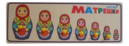 Деревянная игрушка для малышей Оксва Матрешки