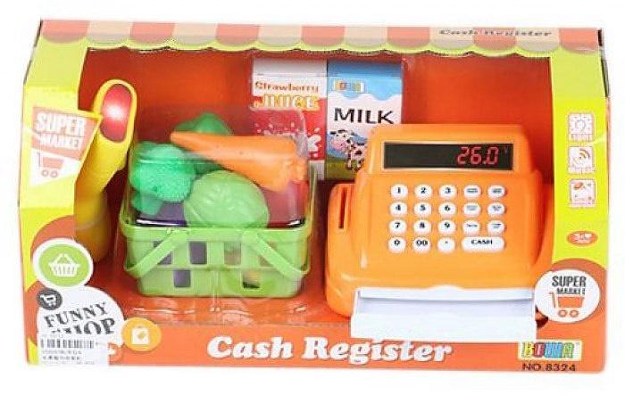 Игровой набор касса с продуктами в корзинке Shantou Gepai 8324
