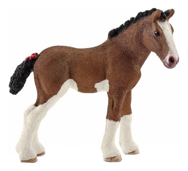 Купить Жеребенок породы клейдесдаль, Фигурка лошадки Schleich Клейдесдаль жеребенок 13810, Фигурки животных