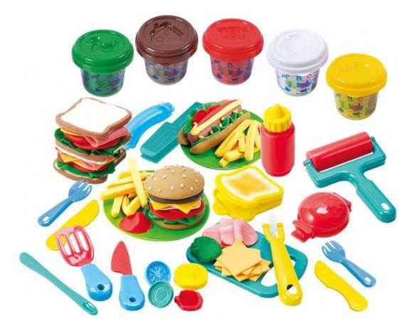 Набор для лепки из пластилина Playgo Гамбургер