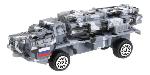 Машинка Технопарк рсзо тополь с ракетой металлическая инерционная с открывающимися дверьми