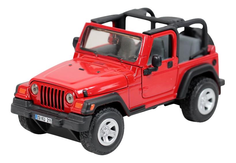 Джип Вранглер красная, Коллекционная модель Siku Джип Вранглер 4870, Игрушечные машинки  - купить со скидкой