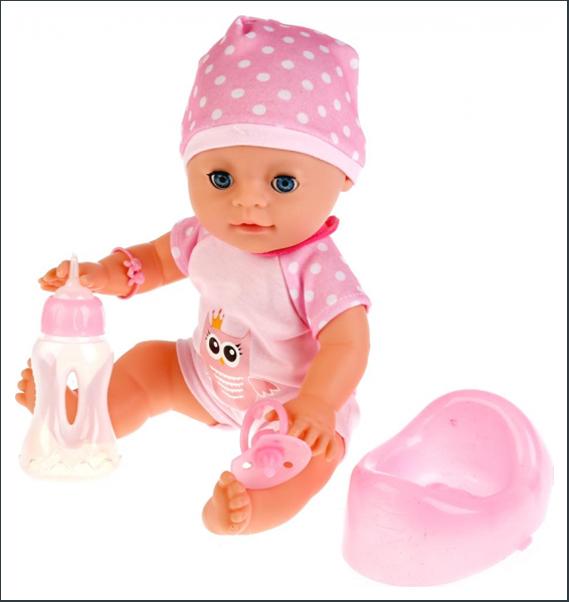Пупс интерактивный baby Love с аксессуарами пьет писает Shantou Gepai YL1712D