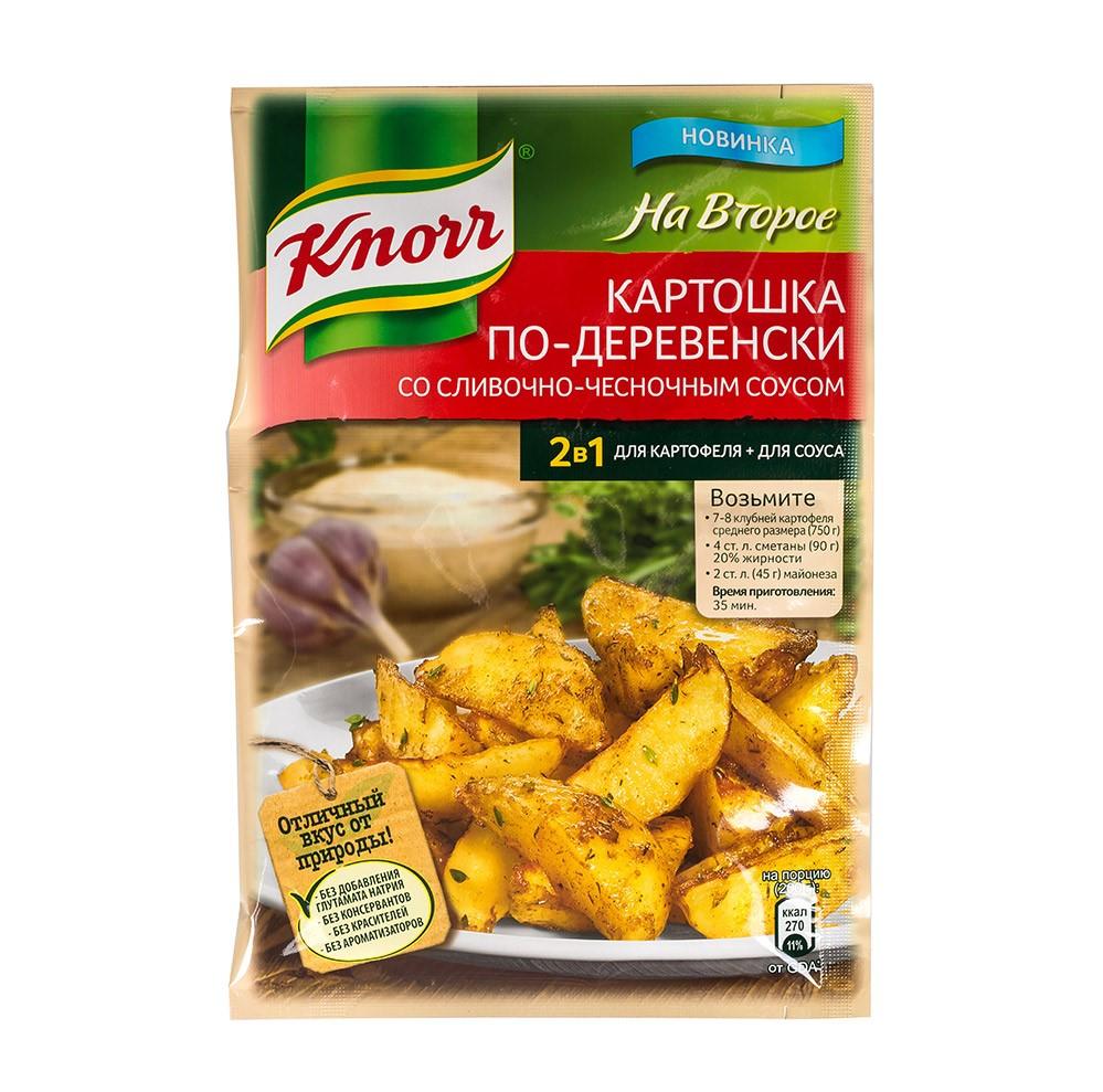 Смесь Knorr на второе со сливочно-чесночным соусом 28 г фото