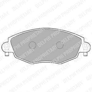 Тормозные колодки дисковые Delphi LP1533 фото