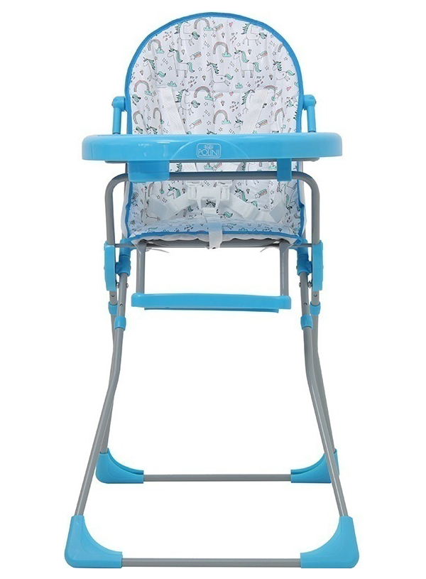 Стульчик для кормления Polini Kids 152 Единорог Радуга, Голубой