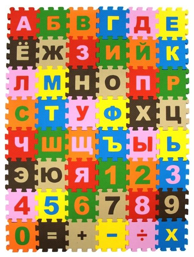 Мягкий коврик-пазл Eco cover Буквы и цифры 10МПДБ/Ц