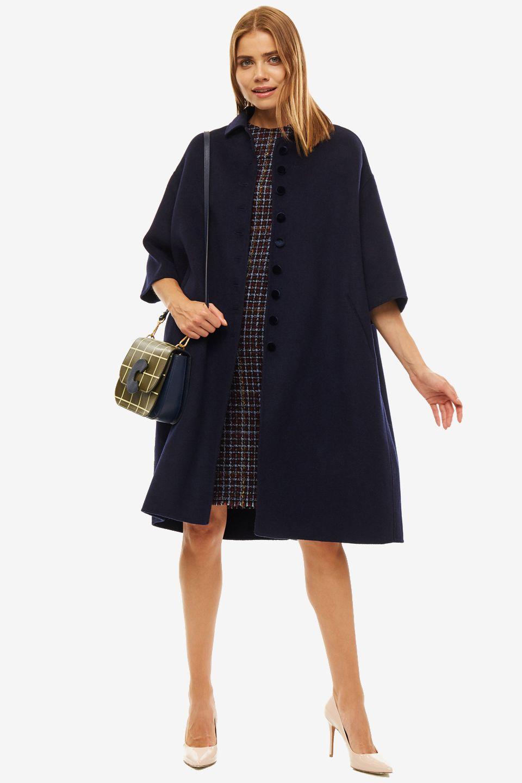 Пальто женское SELVAGGIO синее