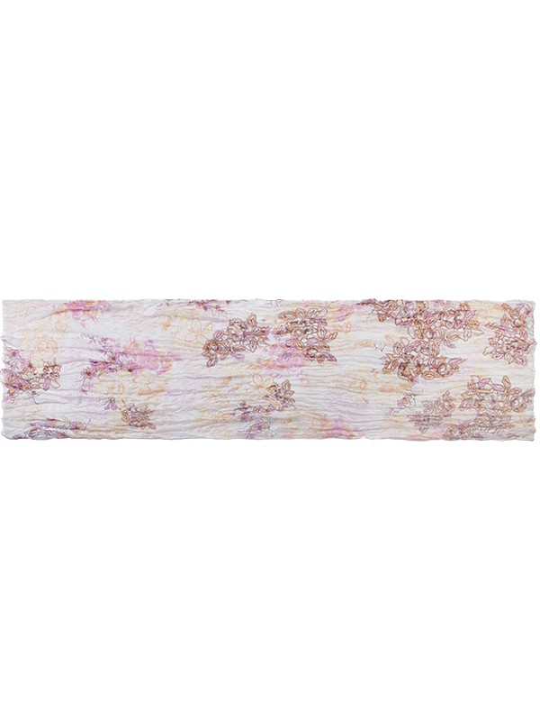 Палантин женский Eleganzza E05-7075 розовый/белый фото