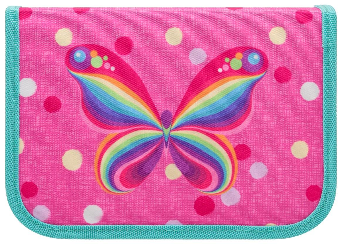 Пенал односекционный Tiger Радужная бабочка, 13,5x19,5x3 см