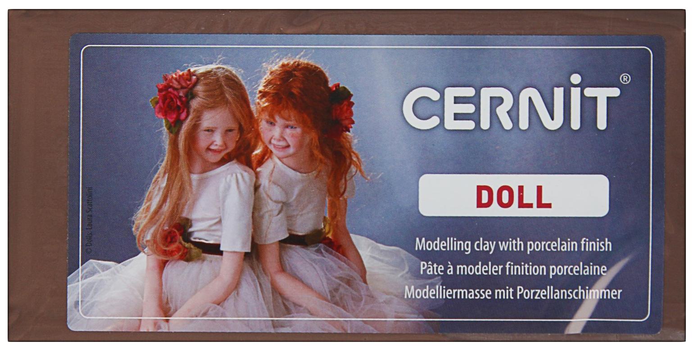 Полимерная глина запекаемая для изготовления кукол, Cernit Doll, 500 г, нуга, №808 Cernit