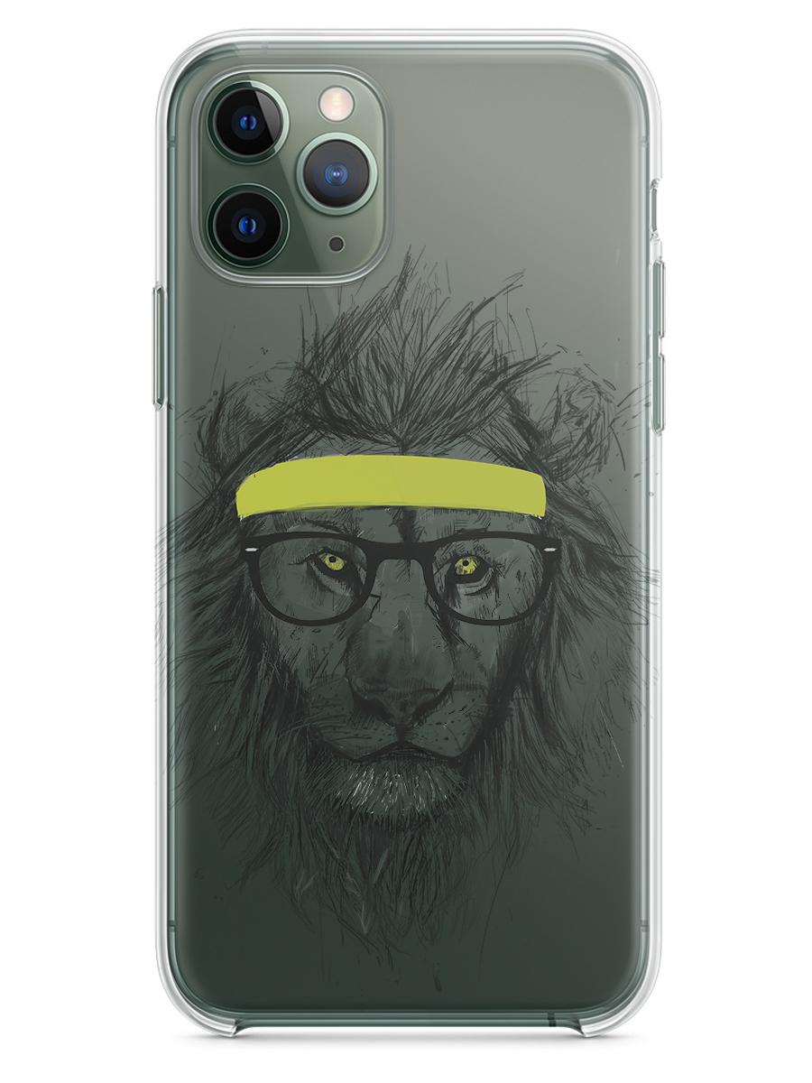 Чехол СМАКС Лев в очках Apple iPhone 11 Pro Max