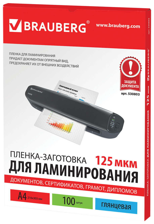 Пленка заготовка для ламинирования (530803), 100 штук,