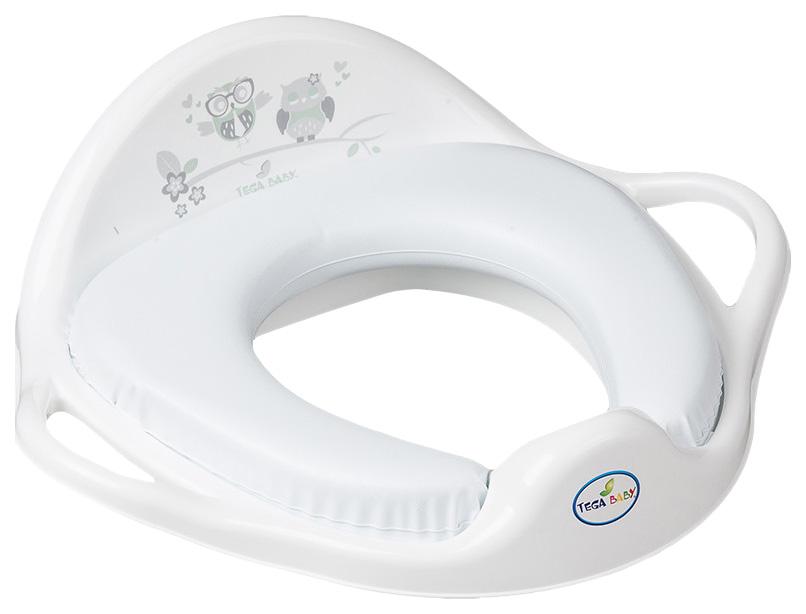 Купить ТЕГА Мягкая накладка на унитаз OWL (СОВЫ) белый SO-020-103, Tega Baby, Детская накладка на унитаз