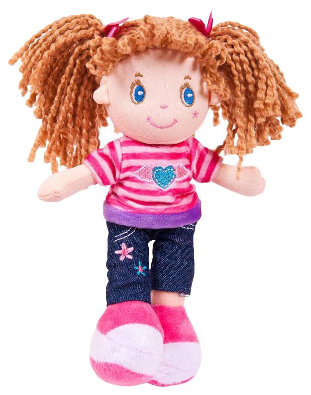 Купить Кукла, брюнетка в джинсах, мягконабивная, 20 см, ABtoys, Классические куклы