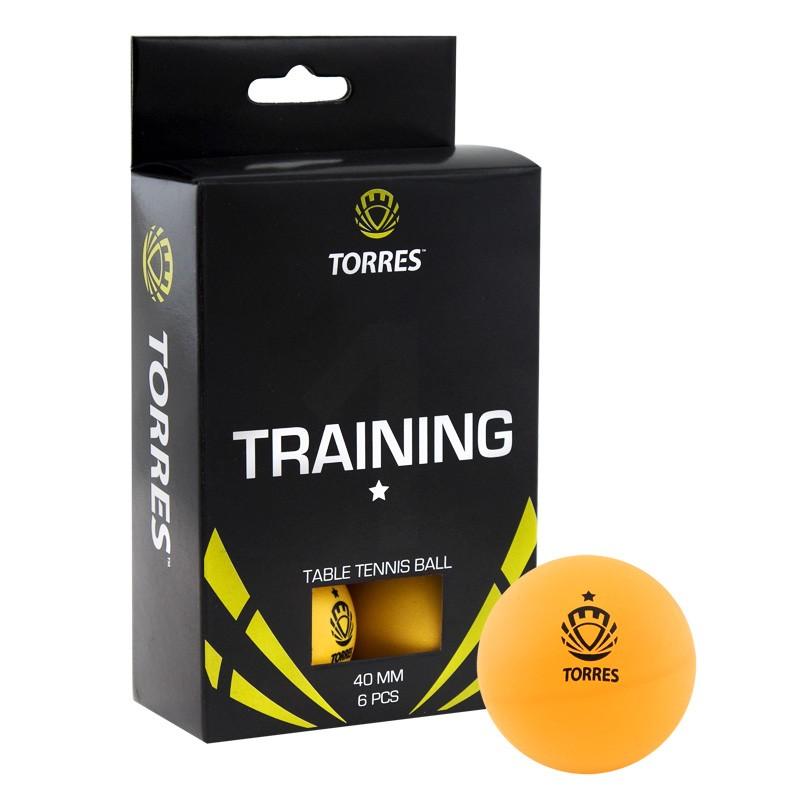 Мяч для настольного тенниса Torres Training 1 6 шт.ук, оранжевый фото