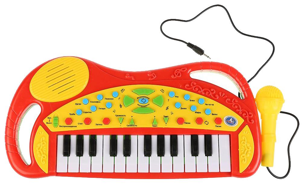 Обучающее пианино Умка 20 любимых песен с микрофоном B1454100-R фото