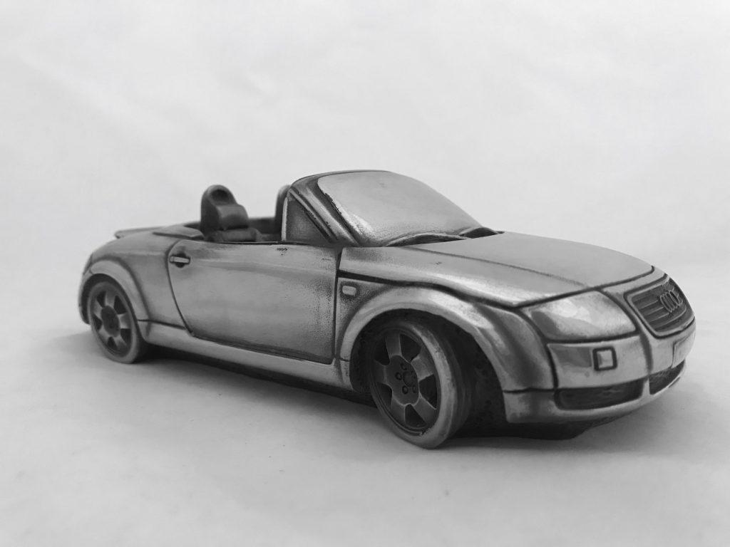 Скульптура автомобиль 'Audi TT Roadster', металл,