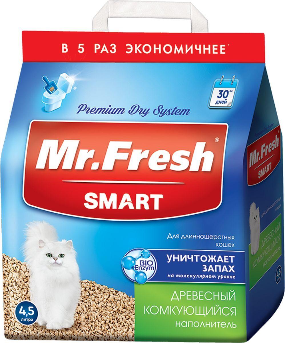 Впитывающий наполнитель для кошек Mr.Fresh для длинношерстных,