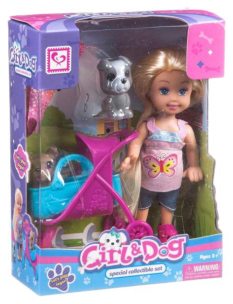Игровой набор с куклой Cute Girl Прогулка с домашними питомцами Д78528