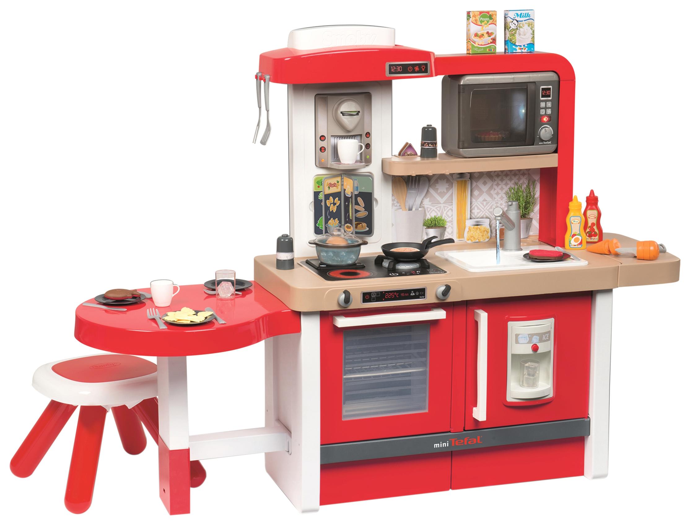 Купить Кухня детская Smoby Tefal Evolutive SM312302 134 см 43 предмета, Детская кухня