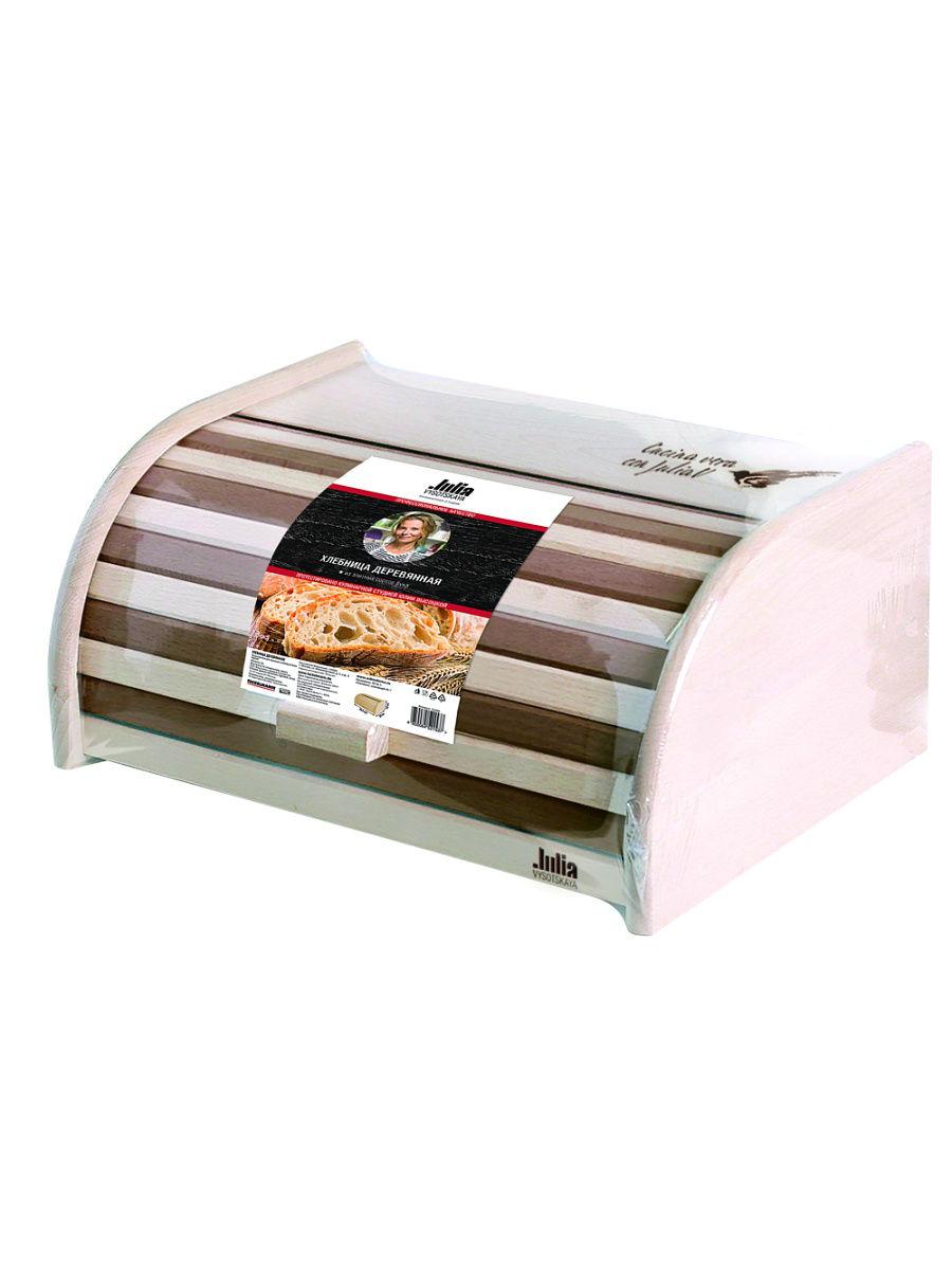 Хлебница деревянная FACKELMANN полосатая JV фото
