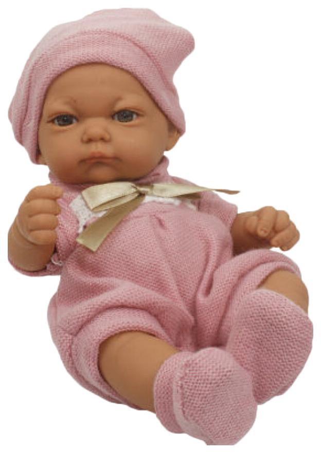 Пупс 1 TOY Baby Doll в розовом комбинезоне, пинетках и шапочке, 25 см