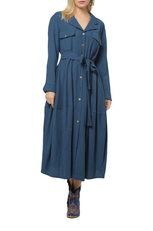 Платье женское KATA BINSKA NADIN 190821 синее 50 EU
