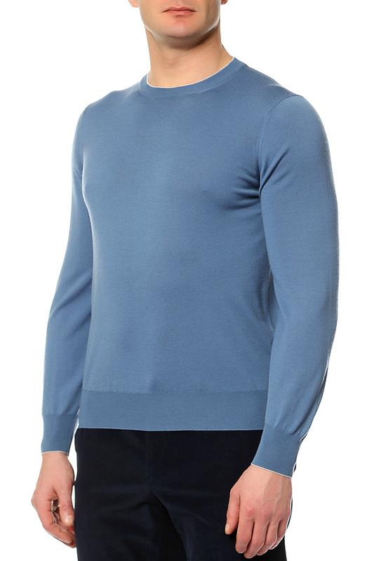 Пуловер мужской Brunello Cucinelli M2400100 голубой 50 IT фото