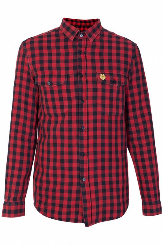 Рубашка мужская Love Moschino 79863 красная XS
