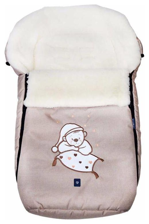 Купить Спальный мешок в коляску Womar №S77 Exlusive Bear Melange fabric Бежевый, Конверты в коляску