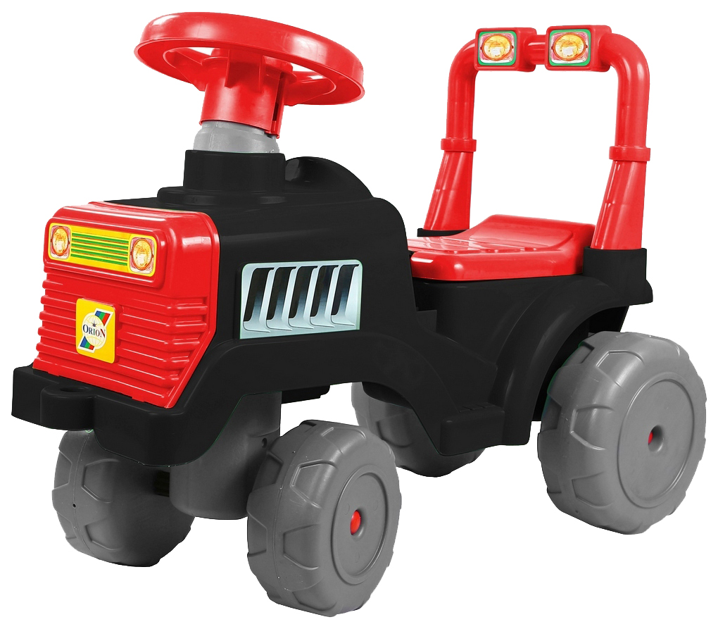картинка Каталка детская RT Трактор черно-красный от магазина Bebikam.ru