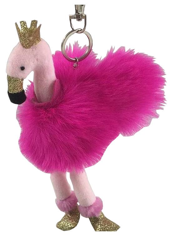Мягкая игрушка ABtoys Фламинго розовый, на брелке