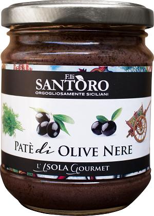 Паштет Santoro из черных оливок 180 г