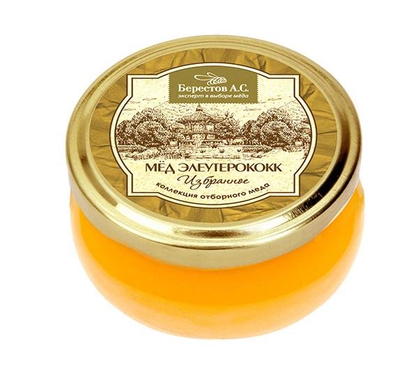 Мед натуральный Берестов А.С элеутерококк 100 г