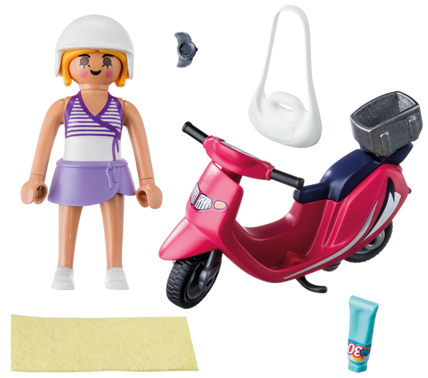 Купить Игровой набор Playmobil Экстра-набор:Посетитель пляжа со скутером, Игровые наборы