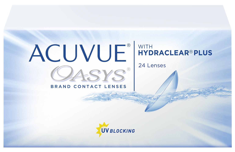 Контактные линзы Acuvue Oasys with Hydraclear Plus 24 линзы R 8,8 +4,25
