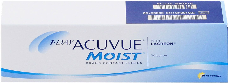 Контактные линзы 1-Day Acuvue Moist 30 линз R 9,0 -2,50