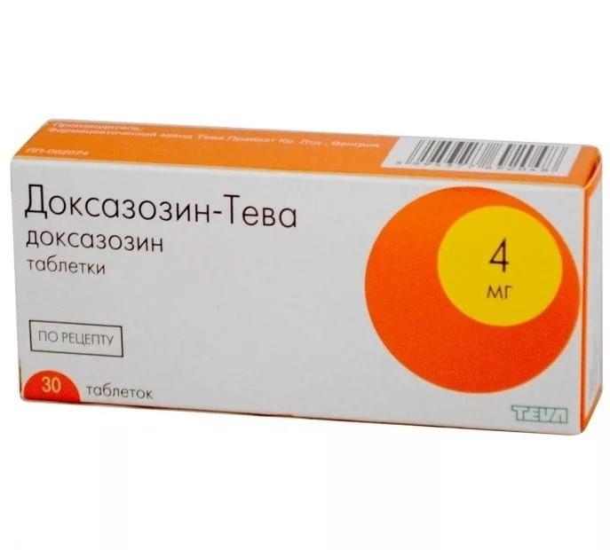 Доксазозин-Тева таблетки 4 мг 30 шт.
