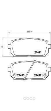 Тормозные колодки дисковые brembo P30040