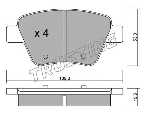 Комплект тормозных дисковых колодок TRUSTING 906.0
