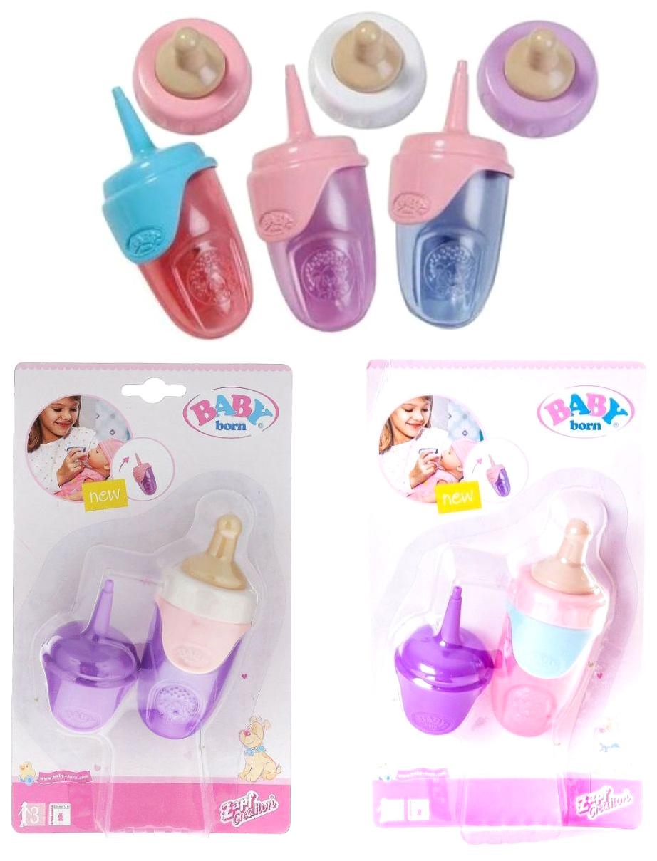 Аксессуары для куклы Zapf Creation Baby born 819-630 Бутылочка, в ассортименте
