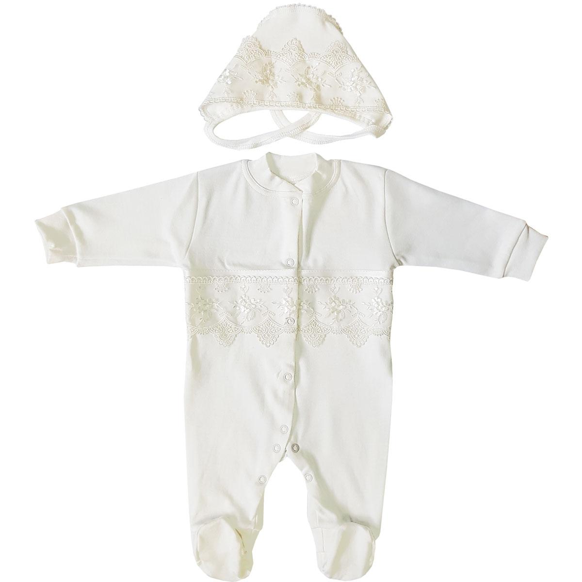 Купить Комплект на выписку Папитто 2 пр. универсальный р.56 37-5292 экрю, Комплекты для новорожденных