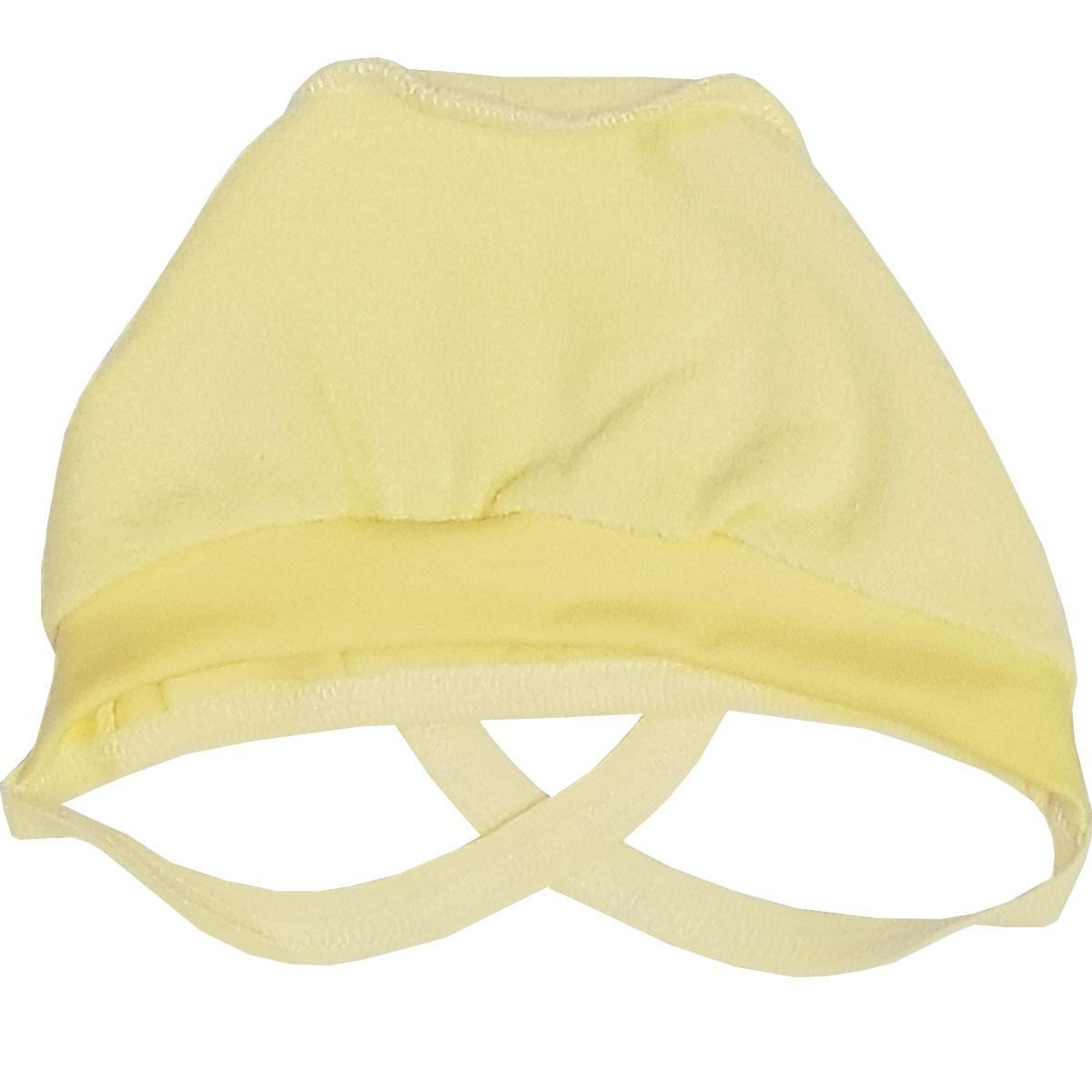 Чепчик Папитто на бейке желтый с начесом