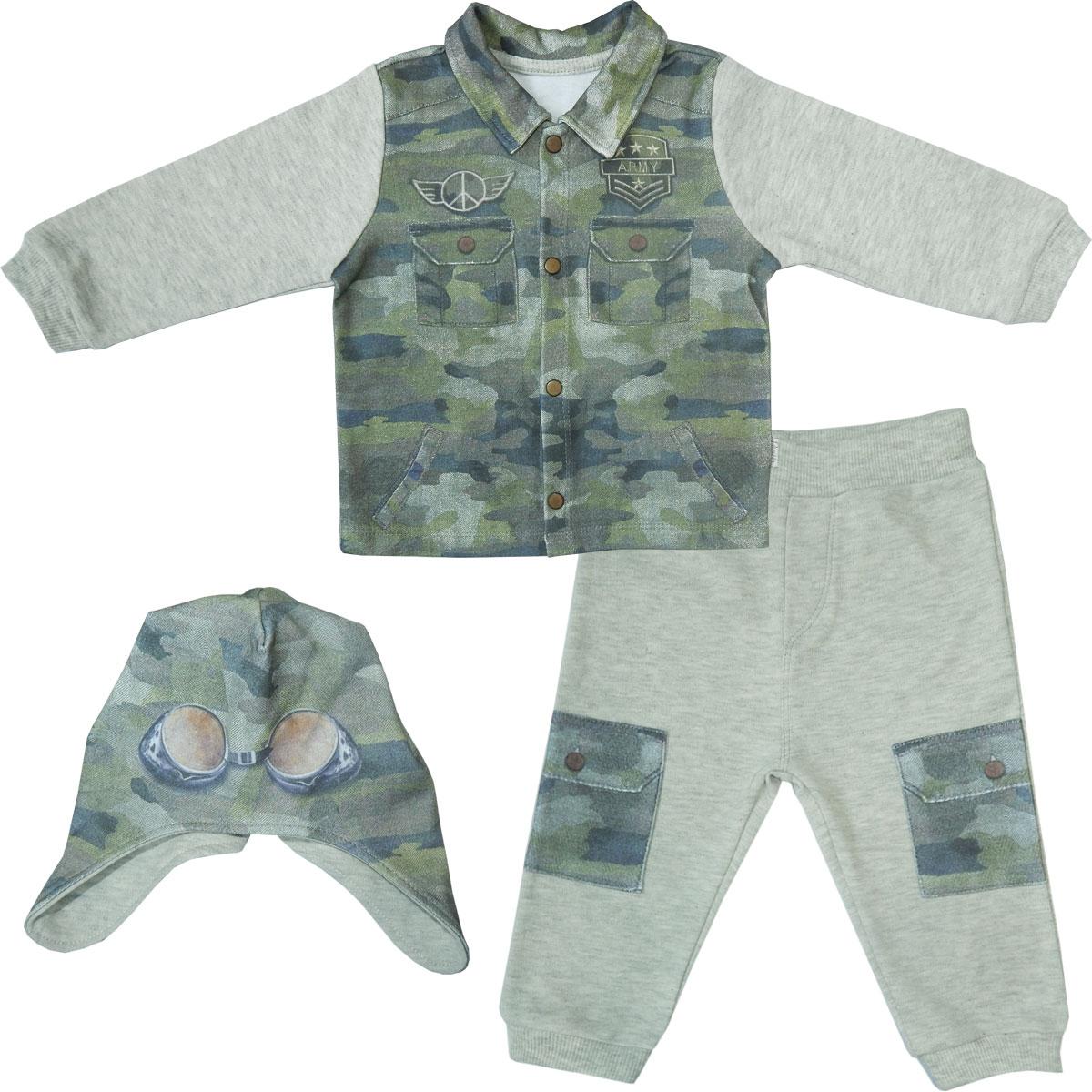 Комплект 3 пр. Папитто для мальчика Fashion Jeans 585-05 р.24-80