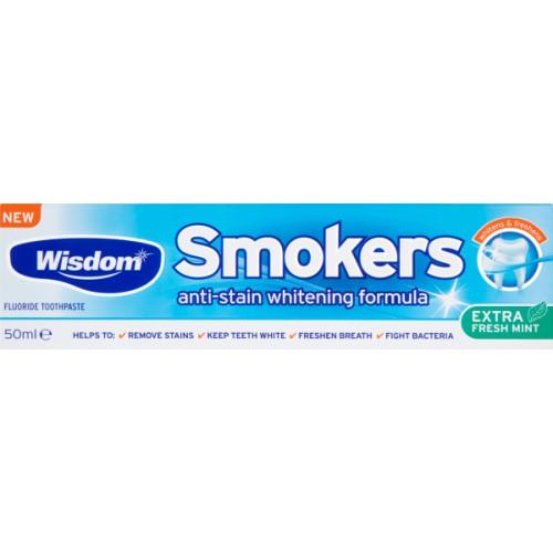 Купить Зубная паста Wisdom Smokers для тщательной очистки эмали от налета 50мл