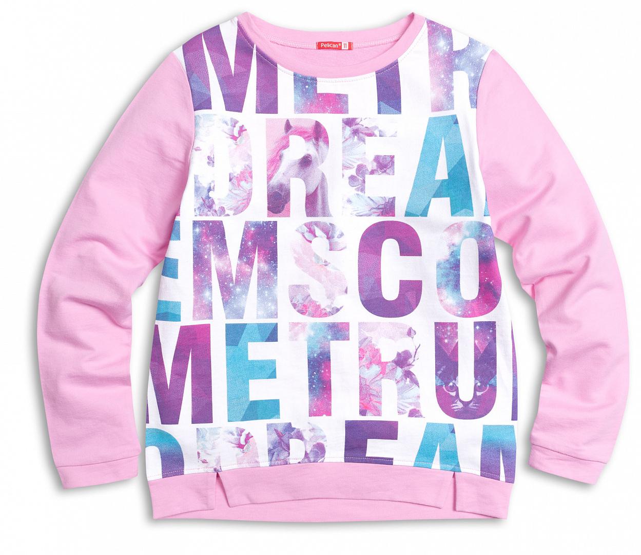 Джемпер для девочки Pelican GFN4014 Розовый р.116, Детские джемперы, кардиганы, свитшоты  - купить со скидкой
