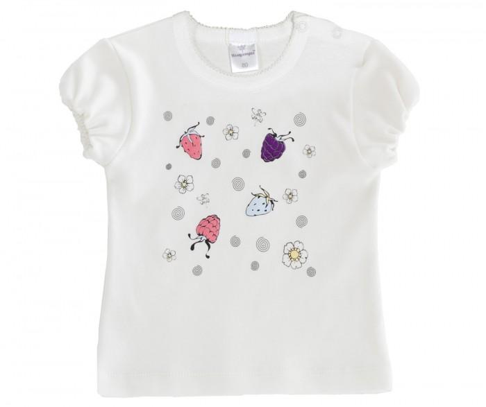 Купить Футболка детская Мамуляндия 17-213 молочный р.68, Детские футболки, топы